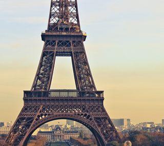 Обои на телефон эйфелева башня, франция, париж, небо, город, горизонт, башня, skyline