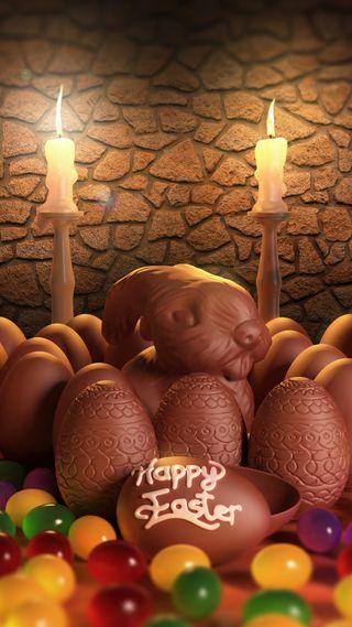 Обои на телефон яйца, шоколад, христианские, праздник, пасхальные, милые, кролик, красочные, конфеты, весна, chocolate easter