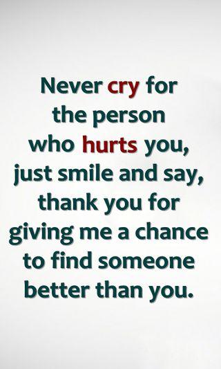 Обои на телефон шанс, цитата, смайлики, поговорка, новый, никогда, лучше, знаки, жизнь, болит, never cry, cry