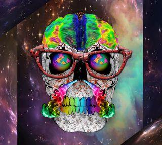 Обои на телефон цветные, париж, мозг, дым, череп, галактика, абстрактные, galaxy, 2015