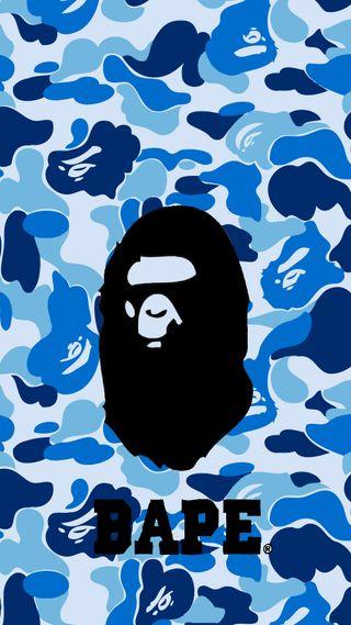 Обои на телефон бейп, синие, логотипы, камуфляж, hd, bape wallpaper
