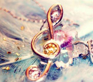 Обои на телефон приятные, перья, новый, музыка, золотые, дизайн, бриллианты, note, jewellery