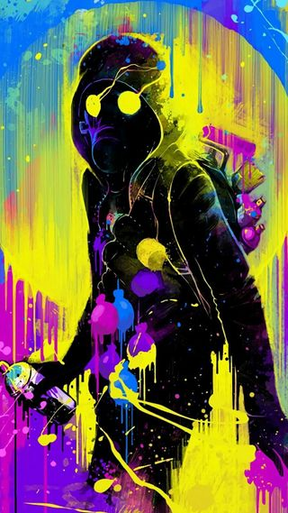 Обои на телефон цветные, улица, спрей, рисунки, маска, арт, uhd hooligan art, uhd, street art, hooligan, graffity