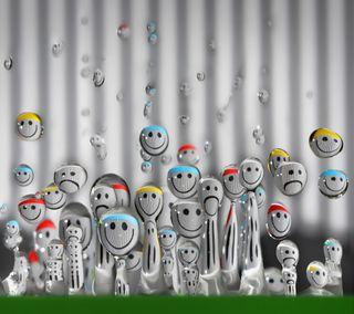 Обои на телефон мокрые, цветные, счастливые, смайлики, лица, крутые, капли, вода, брызги, арт, happy, art