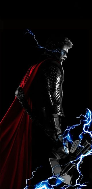 Обои на телефон asgard, marvel, stormbreaker, thor infinity war, марвел, мстители, бог, война, тор, бесконечность