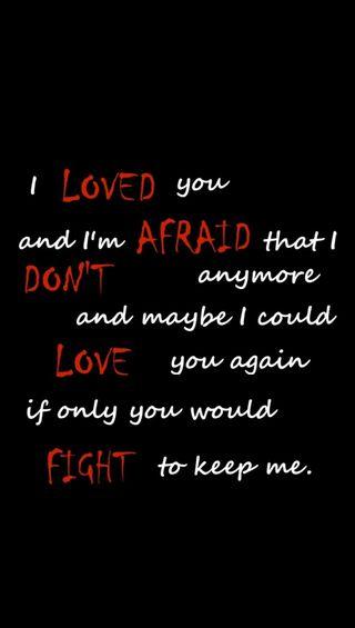 Обои на телефон afraid, keep, love, loved, любовь, бой