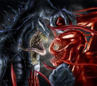 Обои на телефон против, веном, бойня, venom vs carnage