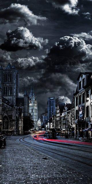Обои на телефон церковь, лондон, темные, город, 4k london