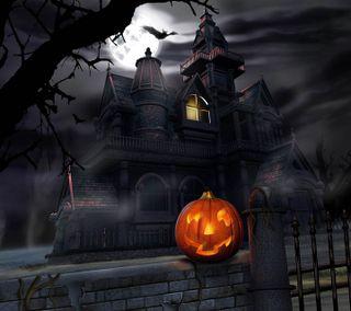 Обои на телефон хэллоуин, страшные, крутые, дом