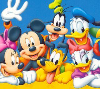Обои на телефон привет, счастливые, мультяшные, мультфильмы, микки, друзья, дональд, дети, mickey and friends, hello, happy, desney
