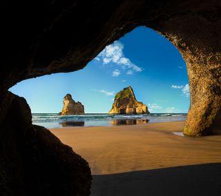 Обои на телефон пляж, океан, море, майкрософт, windows, cove, 10