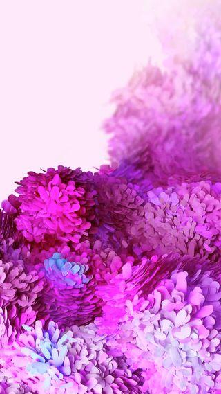 Обои на телефон цветы, телефон, самсунг, розовые, перья, мобильный, дизайн, галактика, samsung, s20, hd, galaxy