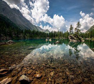 Обои на телефон камни, рок, природа, озеро, кристалл, горы, вода, crystal lake