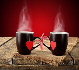 Обои на телефон деревянные, фон, сердце, любовь, wooden background, love cups, heart love, cups of love