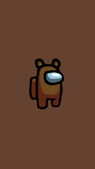 Обои на телефон супер, медведь, маус, коричневые, игры, игра, друзья, амонгас, амонг, us