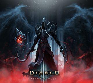 Обои на телефон жнец, души, диабло, reaper of souls, diablo 3