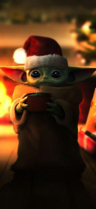 Обои на телефон войны, рождество, мандалорец, малыш, каникулы, йода, звезда, star wars