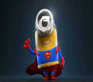 Обои на телефон супермен, супер, миньоны