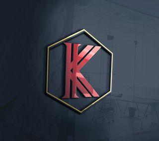 Обои на телефон креативные, стена, логотипы, klogo, k logo