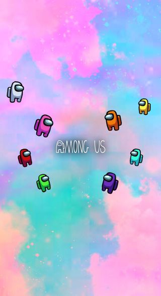 Обои на телефон небо, белые, амонгас, амонг, us, sus, natur, among us on skies