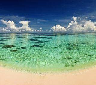 Обои на телефон песок, природа, океан, облака, небо, море, ocean sand