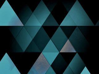 Обои на телефон треугольник, синие, blue wallpaper