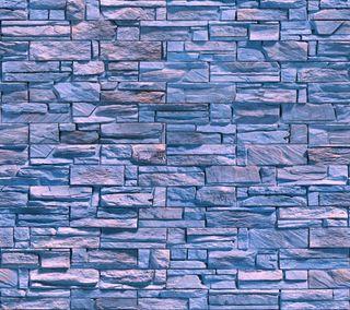 Обои на телефон кирпичи, стена, синие, свет, камни, естественные, wall stones bricks, natural light blue, natural blue wall