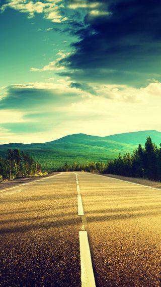 Обои на телефон красота, приятные, природа, небо, крутые, классные, закат, дорога, вид, road hd