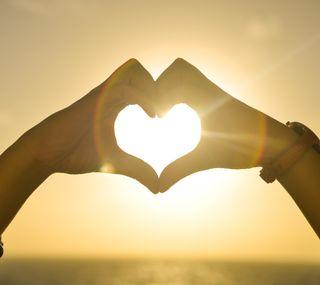 Обои на телефон сердце, любовь, sunsey, love