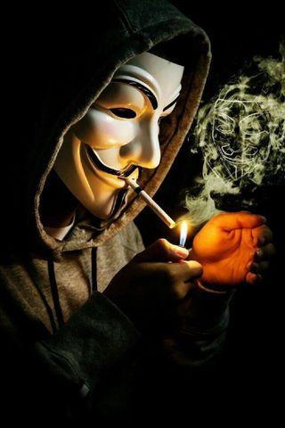Обои на телефон iphone, note10, oneplus, p40, redmi, xiaomi, айфон, дым, маска, сяоми, анонимус, сигареты, редми