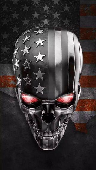 Обои на телефон демон, череп, супер, стальные, серебряные, silver skull demon