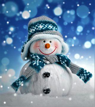 Обои на телефон снеговик, счастливое, снег, рождество, новый, любовь, love