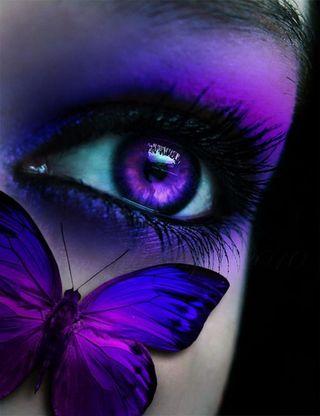 Обои на телефон магия, лицо, глаза, бабочки, wow