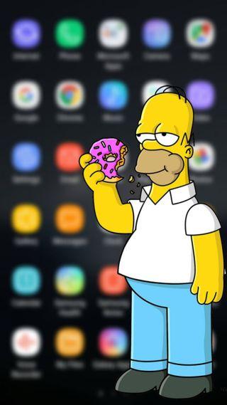 Обои на телефон симпсоны, гомер, барт, андроид, pantalla, android