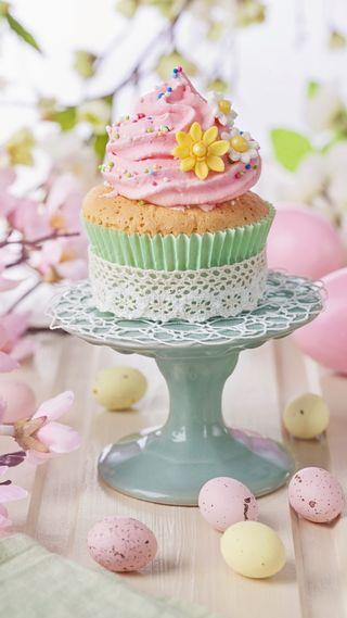 Обои на телефон яйца, торт, цветы, цветные, празднование, пасхальные, кекс, easter cake