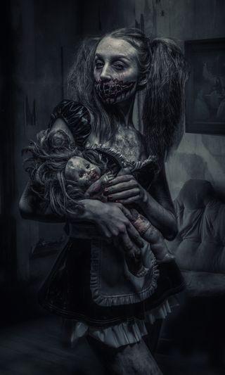 Обои на телефон кукла, зло, monster