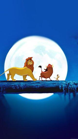 Обои на телефон анимация, лев, король, дисней, disney