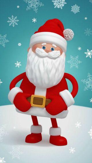 Обои на телефон снег, санта, рождество, зима