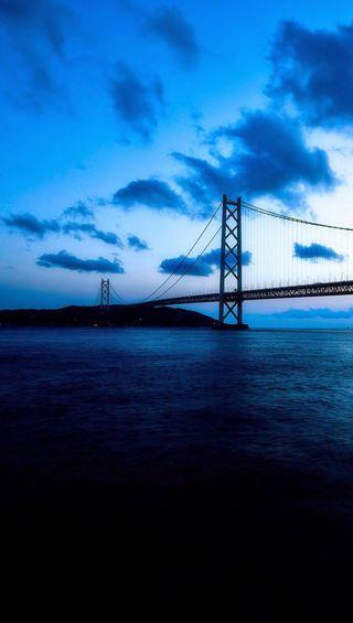 Обои на телефон мост, синие, небо, море, золотые, ворота, golden gate