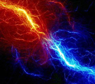 Обои на телефон молния, огонь, лед, абстрактные, conflict