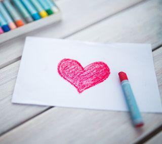 Обои на телефон дети, сердце, милые, любовь, арт, love, heart art 5, crayons, art