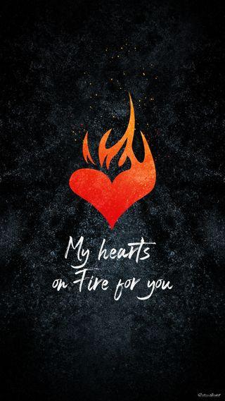 Обои на телефон я, огонь, ты, твой, сердце, мой, любовь, your love, heart on fire