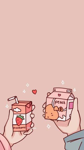Обои на телефон каваи, японские, розовые, милые, девушки, аниме, juice