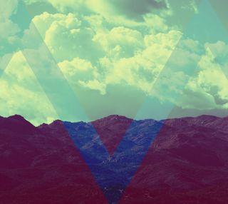 Обои на телефон треугольники, хипстер, природа, горы, винтаж, mountain triangles