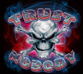 Обои на телефон trust nobody, абстрактные, новый, дизайн, фон, череп, смерть, доверять