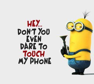 Обои на телефон забавные, цитата, трогать, телефон, ненависть, не, миньоны, любовь, крутые, комедия, дизайн, love
