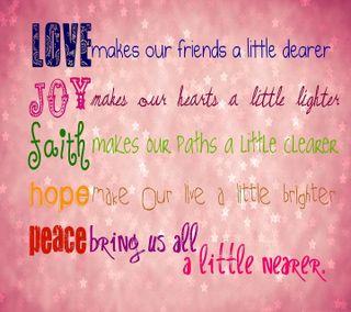 Обои на телефон радость, вера, надежда, мир, любовь, жизнь, друзья, высказывания, love, 5 life sayings