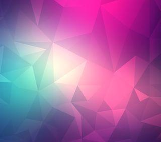 Обои на телефон многоугольник, треугольник, синие, розовые, абстрактные, lg, g3