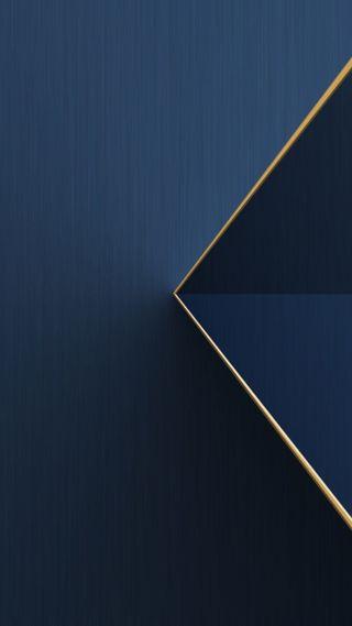 Обои на телефон треугольник, синие, золотые, абстрактные, s8, s7, 3д, 3d