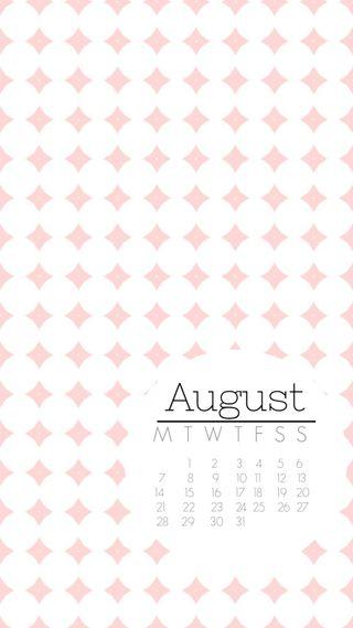 Обои на телефон календарь, точки, август, august dots, aug